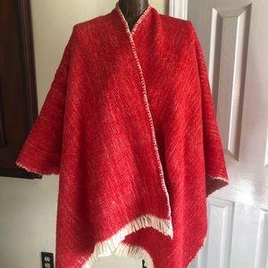 Women's Vintage Wool Poncho